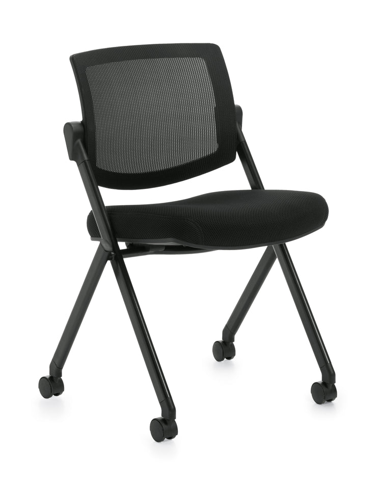 Mesh Back Flip Seat Armless Nesting Chair - JD11341B - Joe's Discount Office Furniture