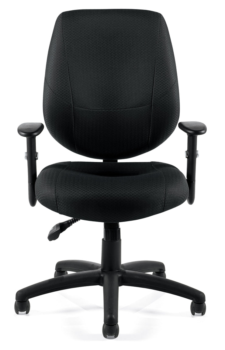 Adjustable Ergonomic Chair - OTG11631B - Front View - Joe's Discount Office Furniture
