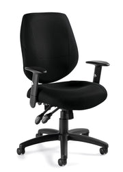 Adjustable Ergonomic Chair - OTG11631B - Angled View - Joe's Discount Office Furniture