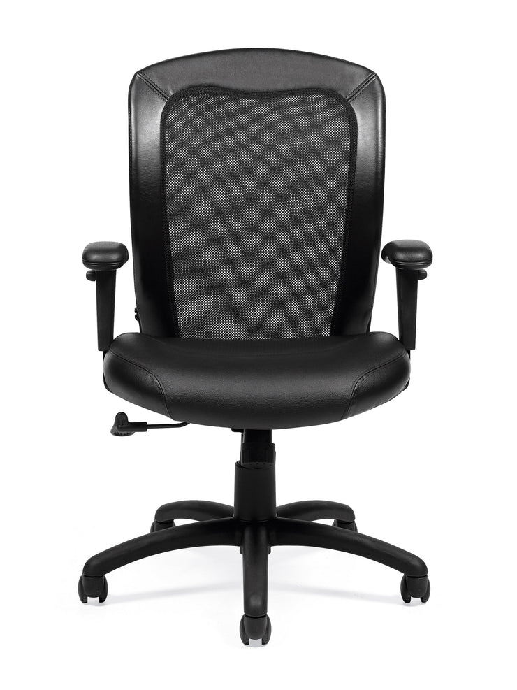 Luxhide Adjustable Mesh Back Ergonomic Chair - JD11692 - Joe's Discount Office Furniture