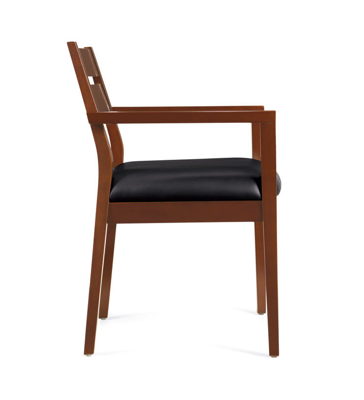 Toffee Wood Guest Chair - JD11820B-TH - Joe's Discount Office Furniture