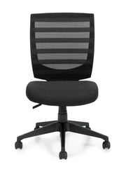Mid Back Armless Task Chair - OTG11922B - Joe's Discount Office Furniture - Front View