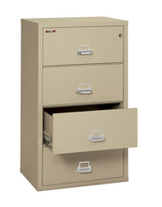 FireKing - Fireproof 4 Drawer Lateral File Cabinet - Pre-Owned