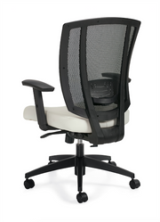 Upholstered Seat and Mesh Back Synchro-Tilter - JD3101 - Joe's Discount Office Furniture
