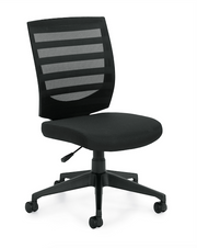 Mid Back Armless Task Chair - OTG11922B - Joe's Discount Office Furniture - Angled Front View