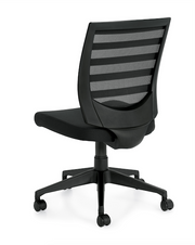 Mid Back Armless Task Chair - OTG11922B - Joe's Discount Office Furniture - Angled Back View