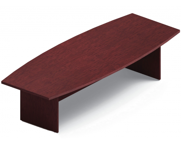 "Global Boardroom Conference Table - Boat Top w/ Slab Base - T-Mold Edge - Finish: Avant Cherry (AWC) - (48"" D x 120"" W x 29"" H) - List Price: $1,313 - Joe's Discount Office Furniture"