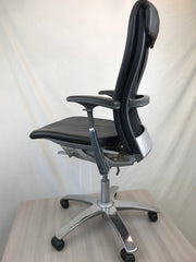 Knoll Life Chair - Leather Upholstery w/ Aluminum Frame - Pre-Owned - Joe's Discount Office Furniture