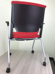 Haworth Very - Stacking Side Chair on Casters - Brand New - Joe's Discount Office Furniture