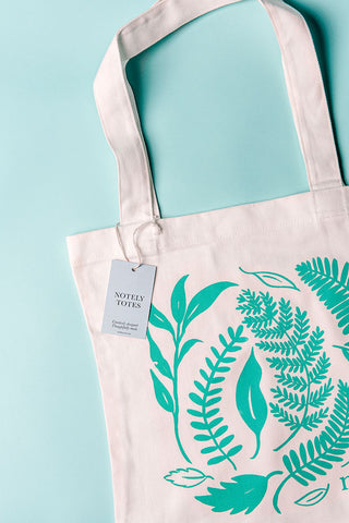 NOTELY Leafy Tote - 100% Cotton Canvas Bag The Plant Lounge Nundah Brisbane Indoor Plants