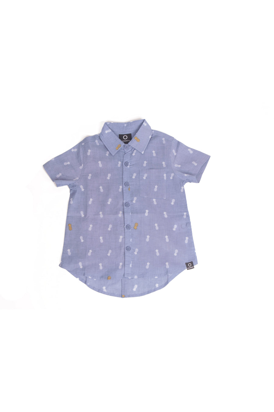 Shirt Kids Pineapple Medium Blue