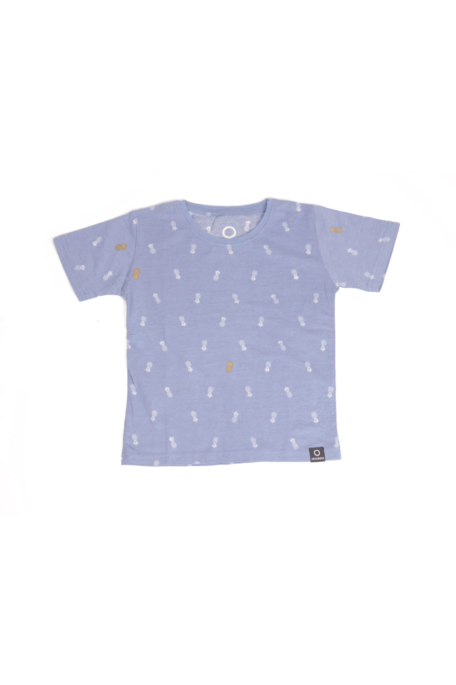 T-Shirt Kids Pineapple Medium Blue