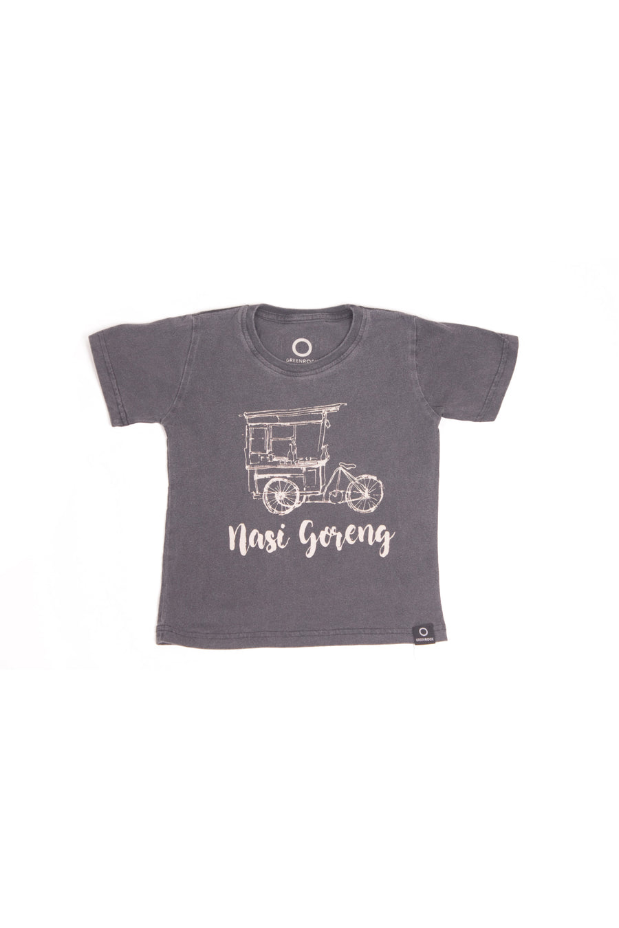 T-Shirt Kids Nasi Goreng Black Wash - Greenrock Indonesia