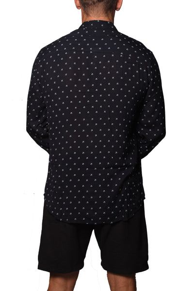 Shirt L/S Simon Tic-Tac-Toe Navy