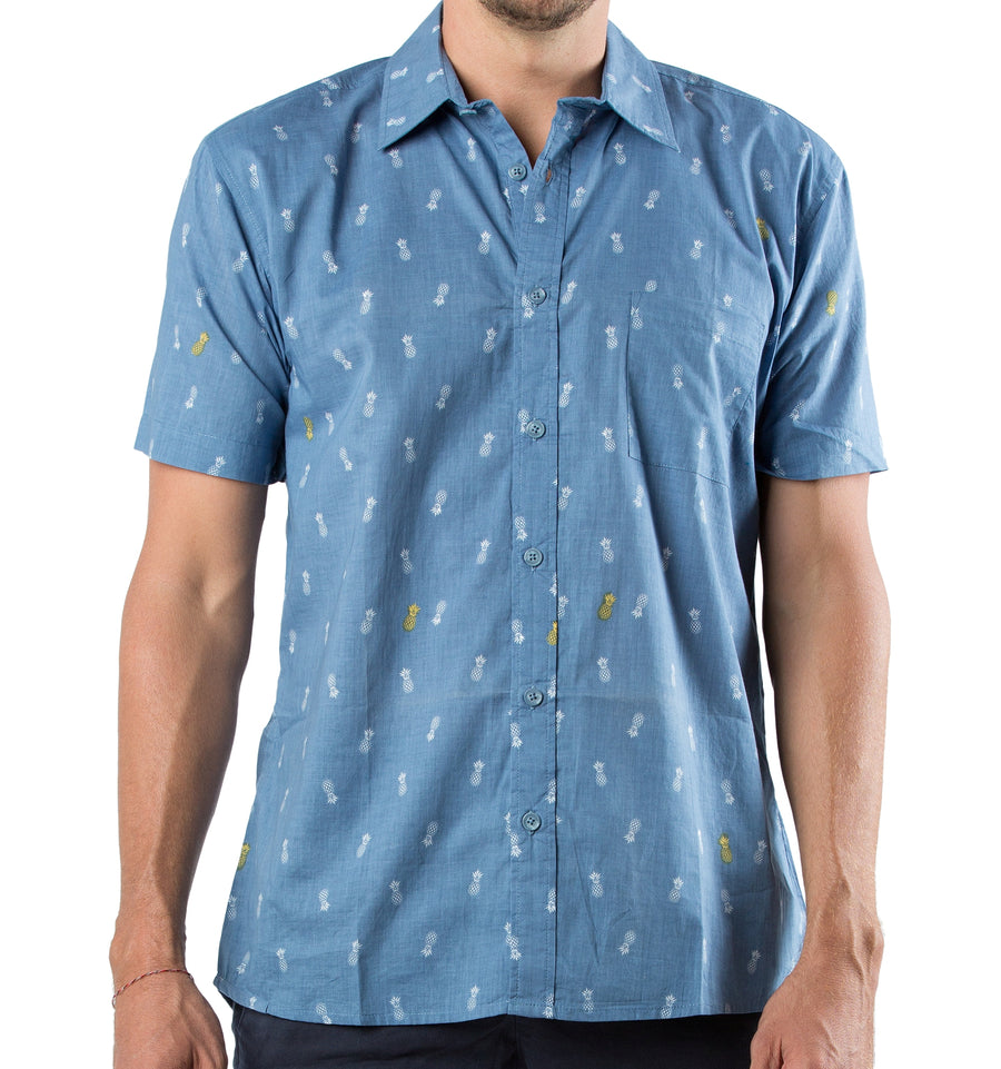 SHIRT ST PINEAPPLE MED BLUE