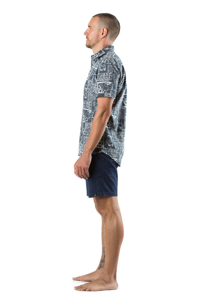Shirt Go Barefoot Navy Black
