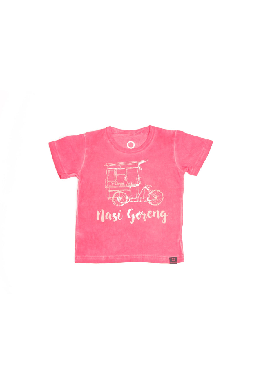 T-Shirt Kids Nasi Goreng Pigment Dye Red - Greenrock Indonesia