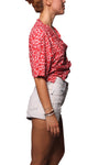 Rain Crop Shirt Leopard Red - Greenrock Indonesia