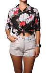 Rain Crop Shirt Wild Flower Black - Greenrock Indonesia