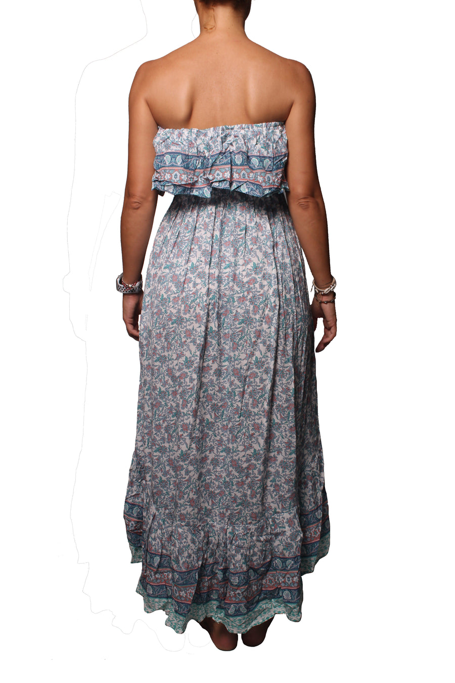 Lulu Long Dress Blue Border