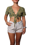 Veronica Top Leopard Yellow - Greenrock Indonesia