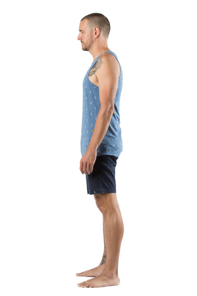 Singlet Pineapple Medium Blue - Greenrock Indonesia