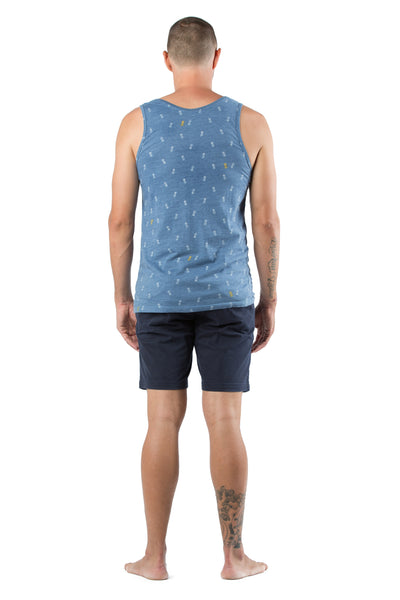 SINGLET PINEAPPLE MED BLUE
