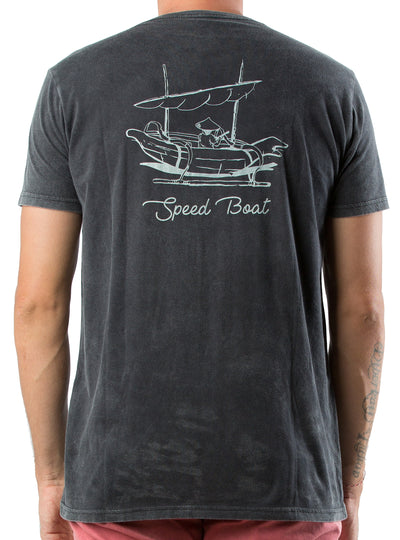 T-SHIRT SPEED BOAT BLACK SULFUR