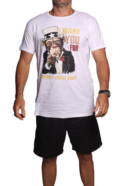 T-Shirt Monkey King White - Greenrock Indonesia