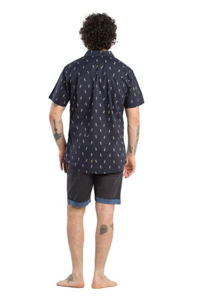Shirt Pineapple Navy - Greenrock Indonesia