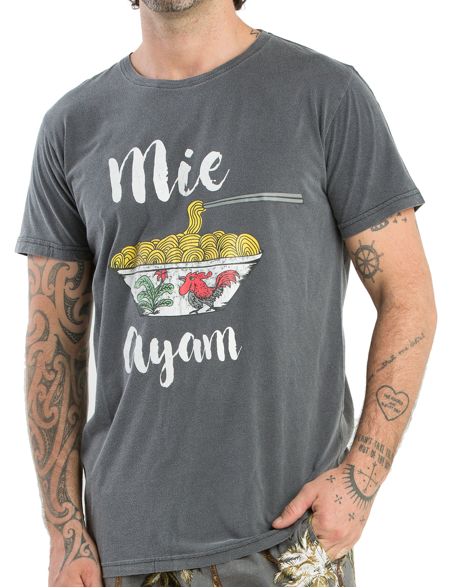 T-Shirt Mie Ayam Black Wash - Greenrock Indonesia