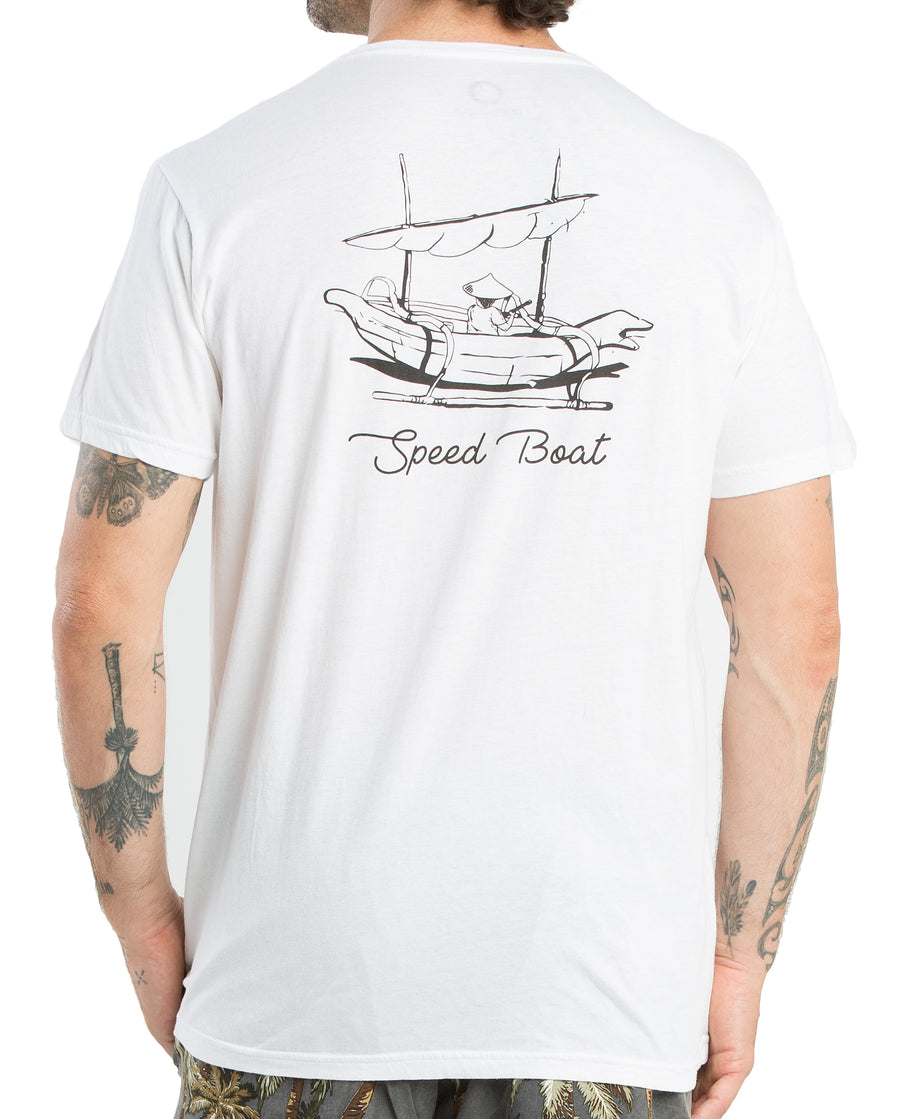 T-SHIRT SPEED BOAT WHITE