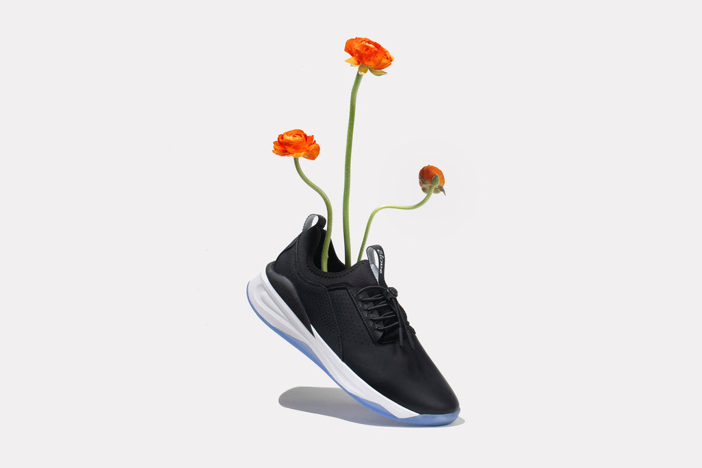 Clove Night Shift Sneakers with Flowers