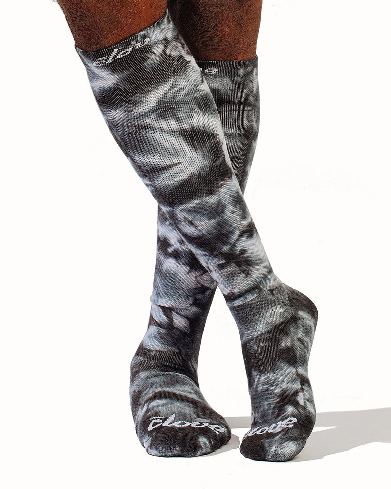 Compression Socks - Black Tie Dye