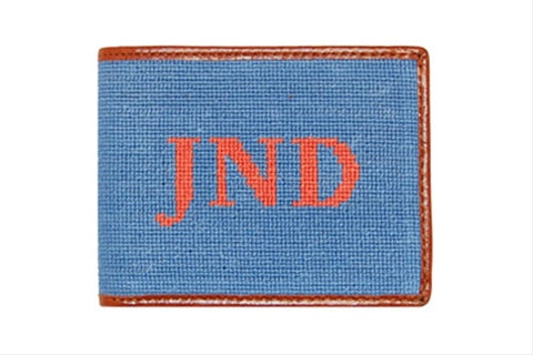 Monogrammed Needlepoint Wallet