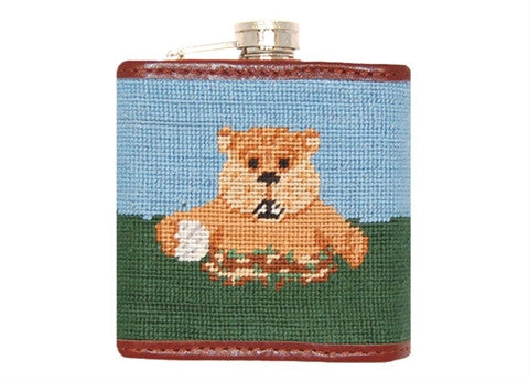 Caddy Shack Needlepoint Flask by Smathers & Branson