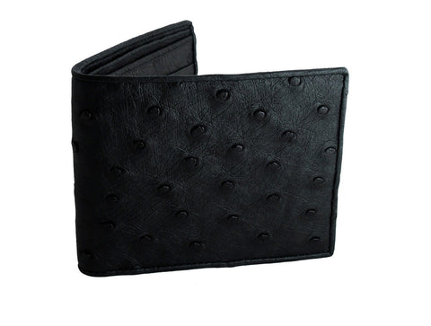 Charcoal Ostrich Bifold Wallet