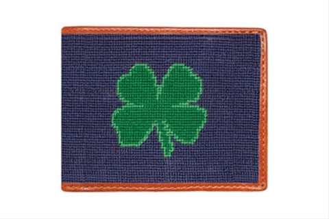 Clover Needlepoint Wallet