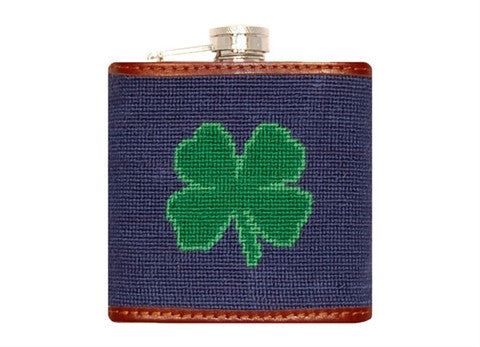 Clover Needlepoint Flask by Smathers & Branson