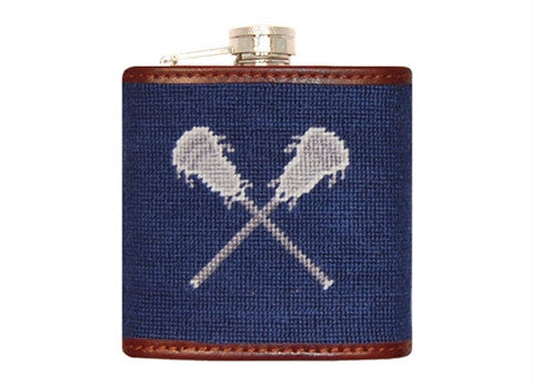Lacrosse Needlepoint Flask by Smathers & Branson