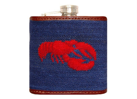 Lobster Needlepoint Flask by Smathers & Branson