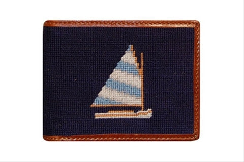 Rainbow Fleet Needlepoint Wallet