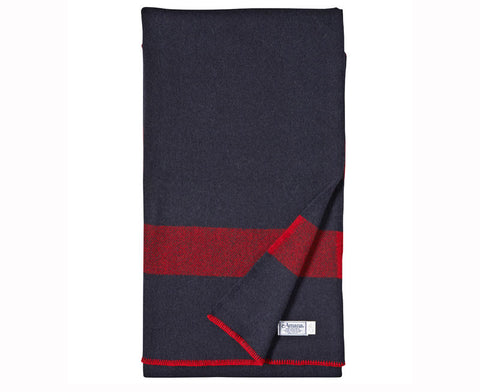 U.S. Cavalry Navy / Brick Red Civil War Blanket