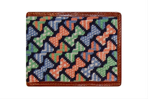 Bow Ties Needlepoint Wallet
