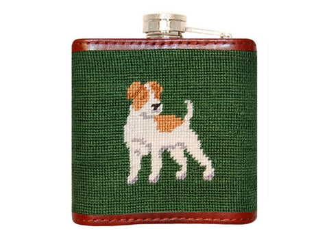Fox & Hound Needlepoint Flask by Smathers & Branson