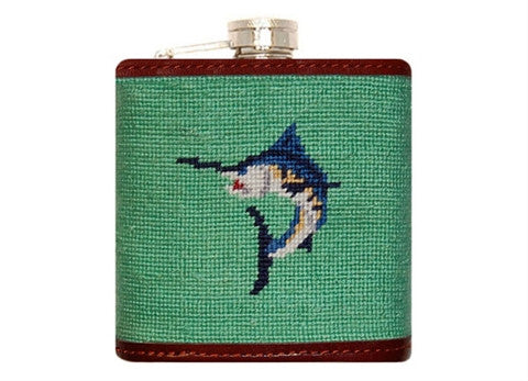 Marlin Needlepoint Flask by Smathers & Branson