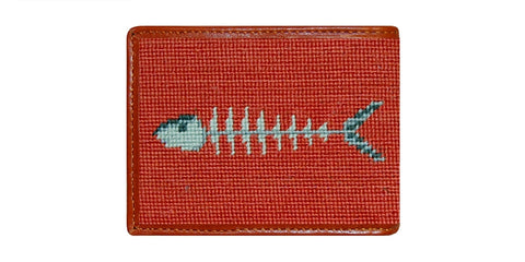 Bonefish Needlepoint Wallet