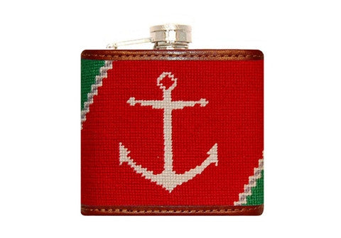 Port & Starboard Needlepoint Flask