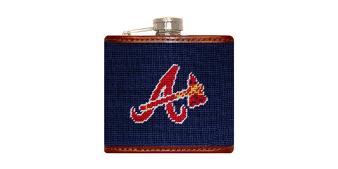 Atlanta Braves Needlepoint Flask