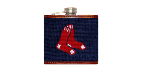 Boston Red Sox Needlepoint Flask